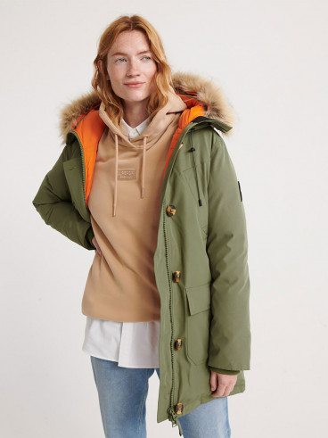 Womens Rookie Down Parka Green