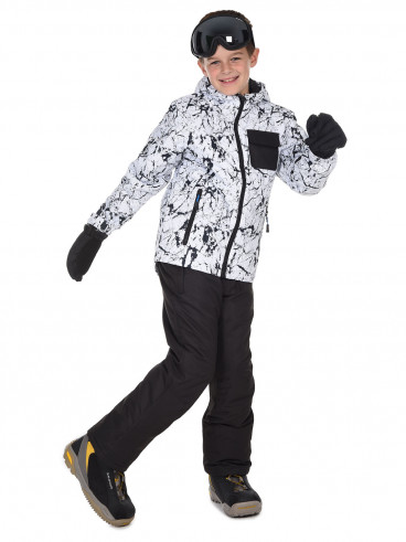 Boys Bravo Surftex Ski Jacket White
