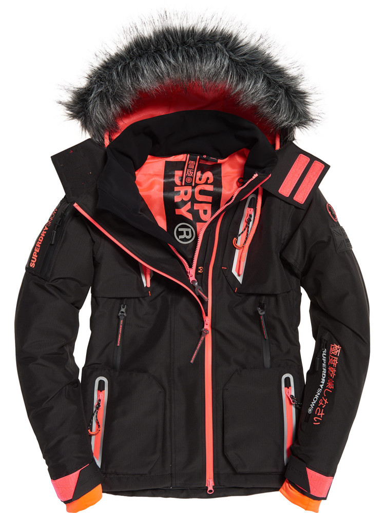 2e529225e5 NEW Superdry Womens Ultimate Snow Action Jacket Black Jacket ...