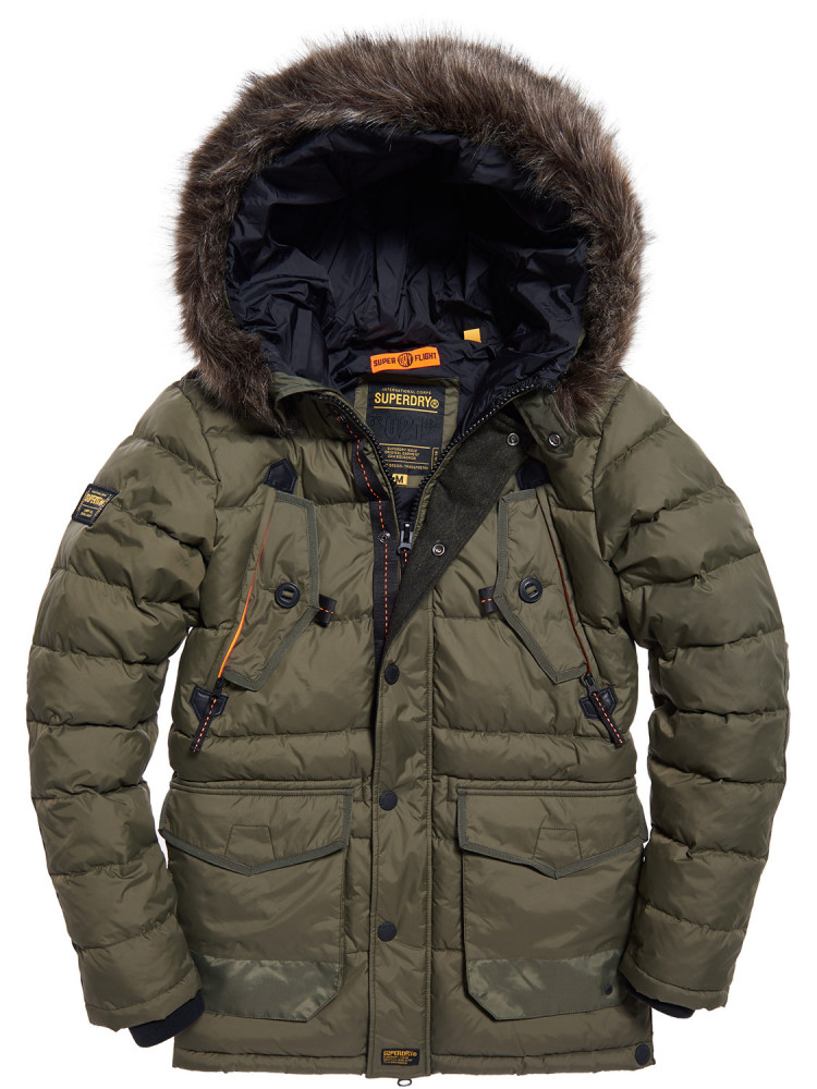 ccf92116d94 NEW Superdry Mens Chinook Parka Jacket Green - Surfanic Shop
