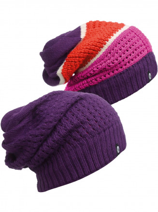 Mens Womens Aidan Knitted Neckwarmer Hat Purple