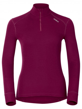 Womens Warm L/s Turtle Neck Red