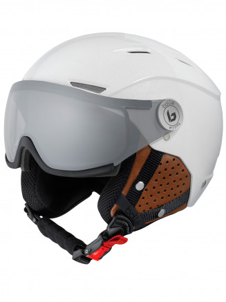 Mens Womens Backline Visor Premium Helmet White