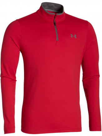 Mens Lightest Warm Coldgear Infared 1/4 Zip Red