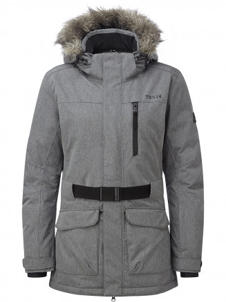 Womens Aria Waterproof Insulated Ski Jacket Grey