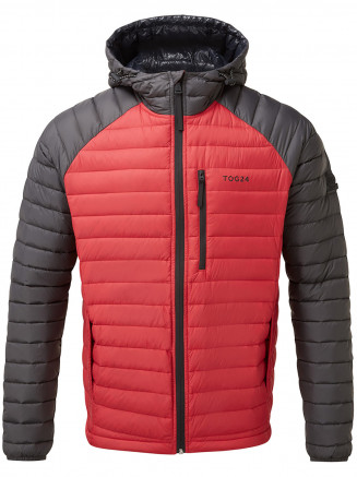Mens Beck Hooded Down Jacket Red