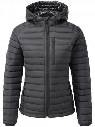 Womens Beck Hooded Down Jacket Black