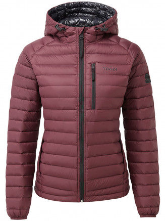 Womens Beck Hooded Down Jacket Red