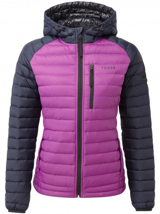 Womens Beck Hooded Down Jacket Purple