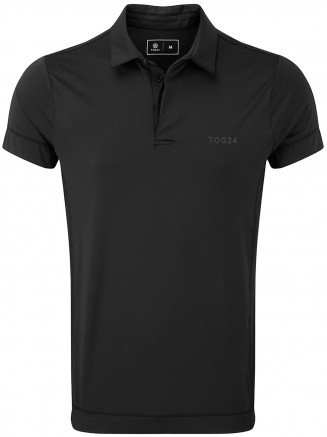 Mens Brawl Performance Polo Shirt Black