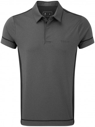 Mens Brawl Performance Polo Shirt Grey