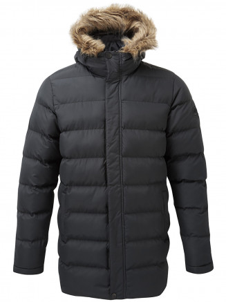 Mens Caliber Long Insulated Jacket Black