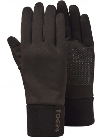 Mens Cottam Way Stretch Gloves Black