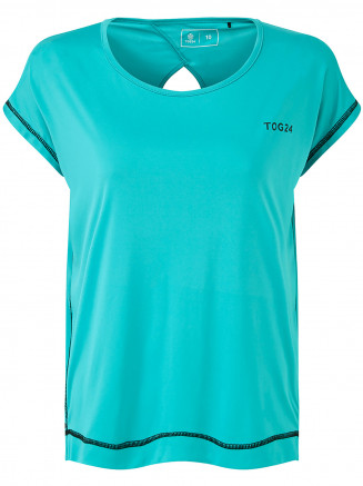 Womens Courtney Performance Tshirt Turquoise