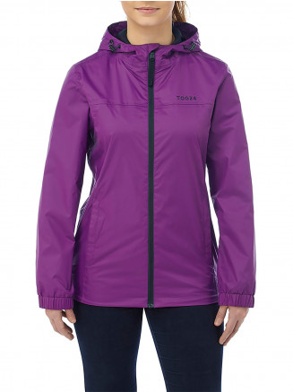 Womens Craven Waterproof Packaway Jacket Purple