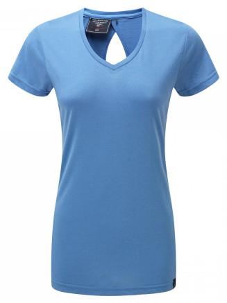 Womens Daisy Dri-release Wool T-shirt Turquoise