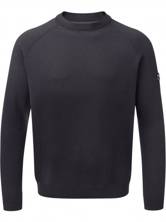 Mens Darton Cashmere Mix Crewneck Jumper Blue