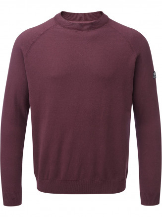 Mens Darton Cashmere Mix Crewneck Jumper Red