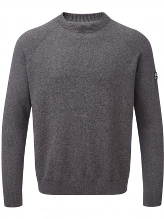Mens Darton Cashmere Mix Crewneck Jumper Grey