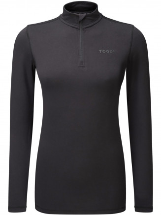 Womens Fixby Thermal Zip Neck Black