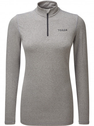 Womens Fixby Thermal Zip Neck Grey