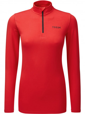 Womens Fixby Thermal Zip Neck Red