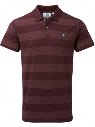 Mens Fordon Pique Polo Shirt Red