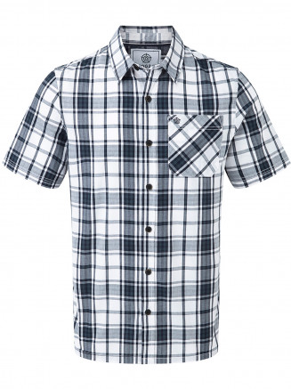 Mens Fulford Short Sleeve Performance Check Shirt Blue