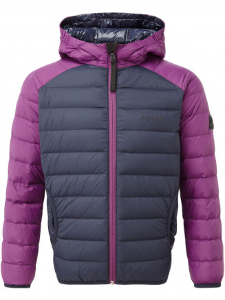 Kids Fuse Hooded Down Jacket Blue