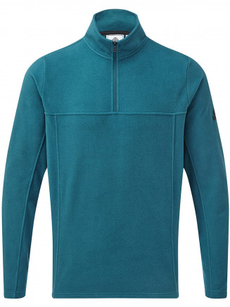 Mens Hecky Fleece Zip Neck Blue
