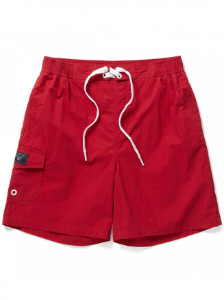 Mens Helier Swimshorts Red