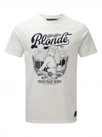 Mens Henry T-shirt Northern Blonde White