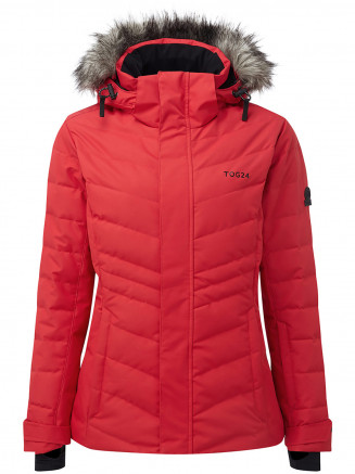 Womens Kirby Waterproof Down Filled Ski Jacket Red