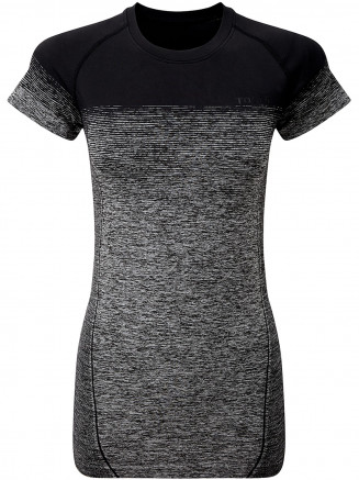 Womens Nada Seamless Performance Tshirt Black