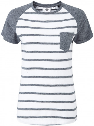 Womens Natty Stripe Tshirt Blue