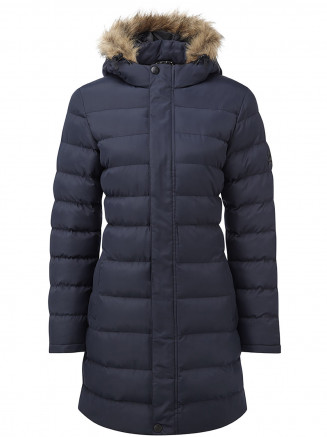 Womens Otley Long Insulated Jacket Blue