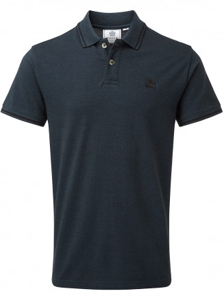 Mens Peyton Pique Polo Shirt Blue