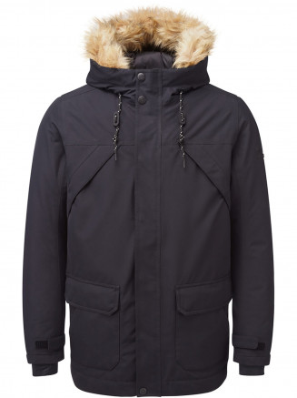 Mens Premium Waterproof Down Filled Parka Black