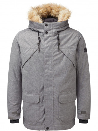 Mens Premium Waterproof Down Filled Parka Grey