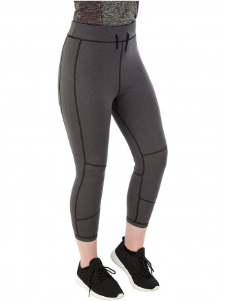 Womens Raid Reversible Performance Capris Black