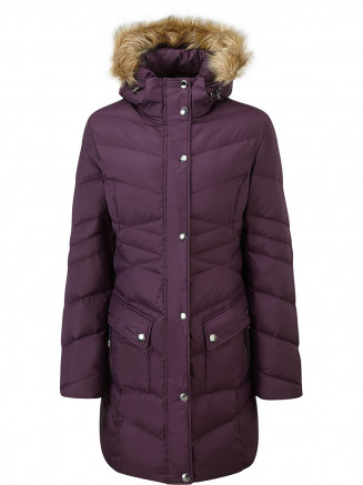 Womens Rialto Down Jacket Purple