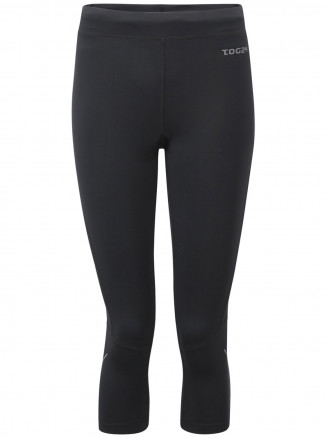 Womens Tempo Tcz Stretch Running Tights Black