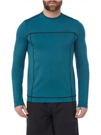 Mens Vault Long Sleeve Performance Tshirt Blue
