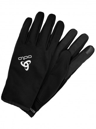 Mens Ceramiwarm Grip Gloves Black