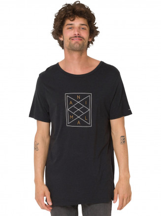 Mens Lines Tshirt Black