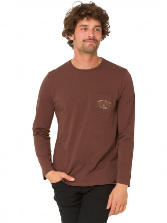 Mens Scrambler Tshirt Brown