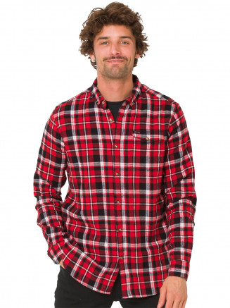 Mens Dalts Long Sleeve Shirt Red