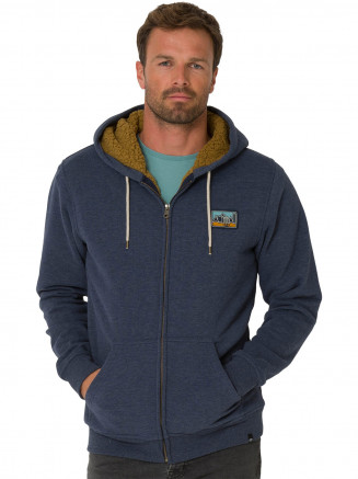 Mens Farthings Zip Hoody Grey
