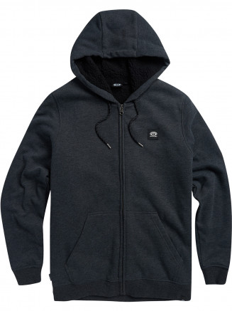 Mens Heath Zip Hoody Black