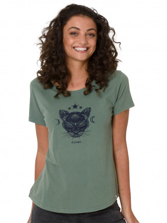 Womens Mirror Tshirt Green